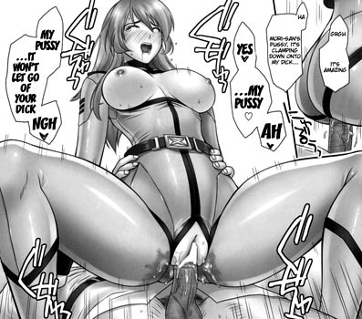 Female offiers from the Space Battleship Yamato 2199, having sex.